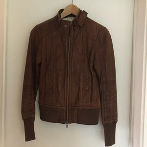 Aritzia Mackage Ellie lambskin leather jacket. XS